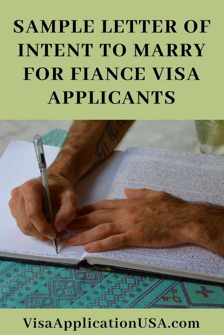 sample letter of intent to marry for fiance visa